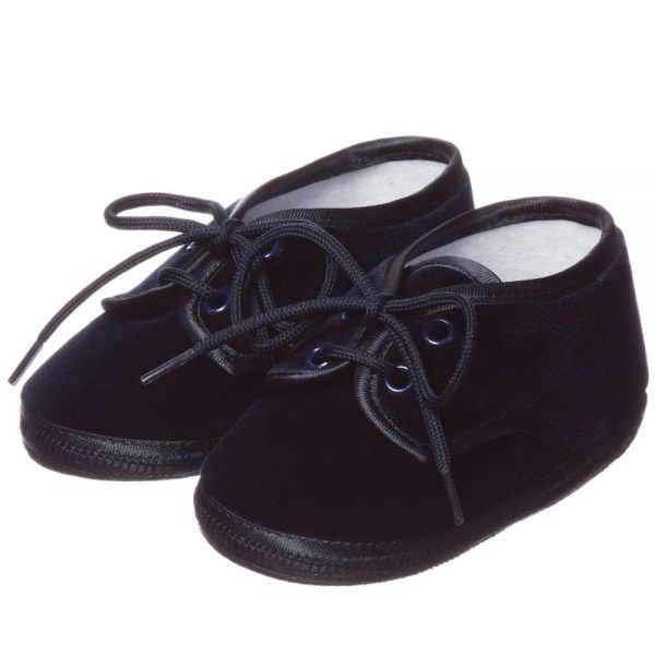 ALETTA Blue Velvet Pre-Walker Shoes 1