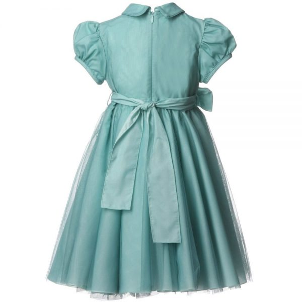 ALETTA Green Tulle Dress 1