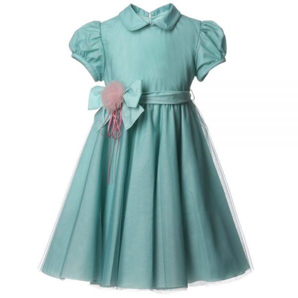 ALETTA Green Tulle Dress