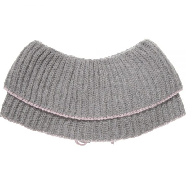 ALETTA Grey Wool & Cashmere Shoulder Shrug 1