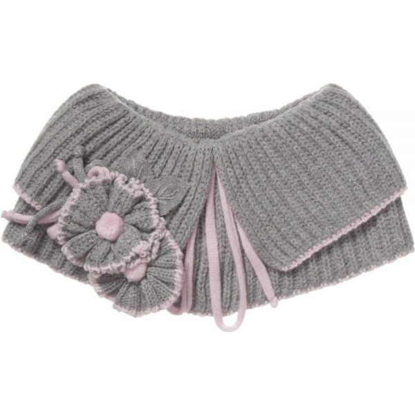 ALETTA Grey Wool & Cashmere Shoulder Shrug