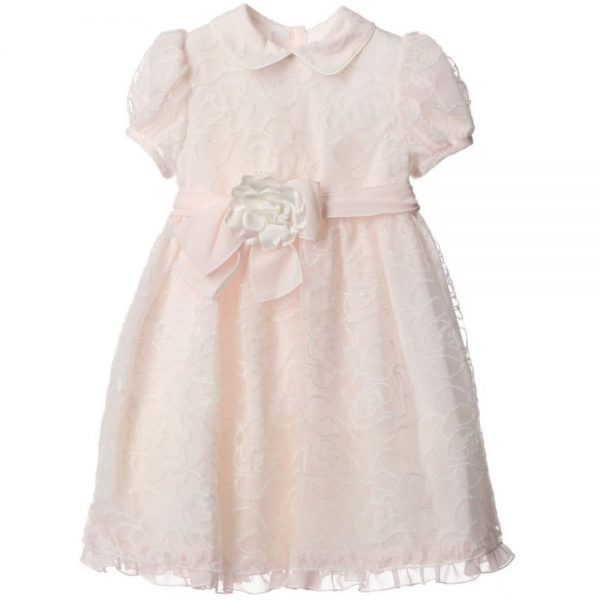 ALETTA Pink Lace & Chiffon Dress