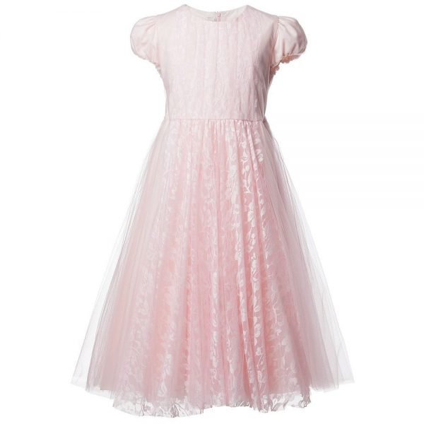 ALETTA Pink Tulle and Lace Dress 2