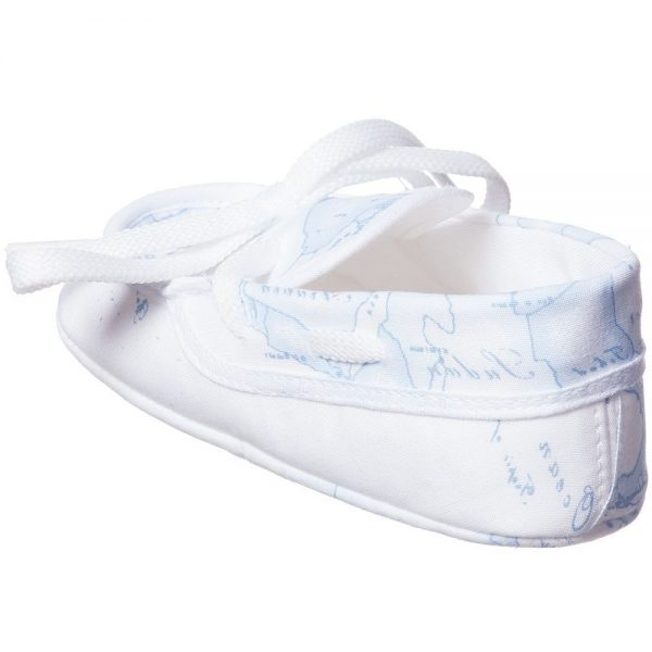 ALVIERO MARTINI Baby Blue Map Cotton Pre-Walker Shoes 3
