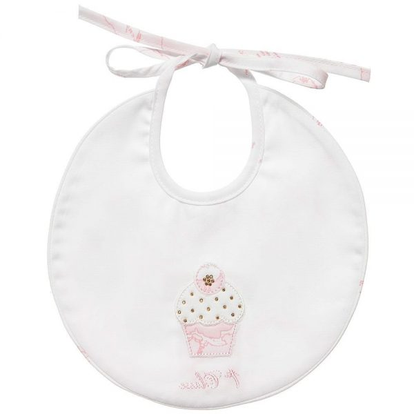 ALVIERO MARTINI Baby Girls Cotton Cupcake Bib