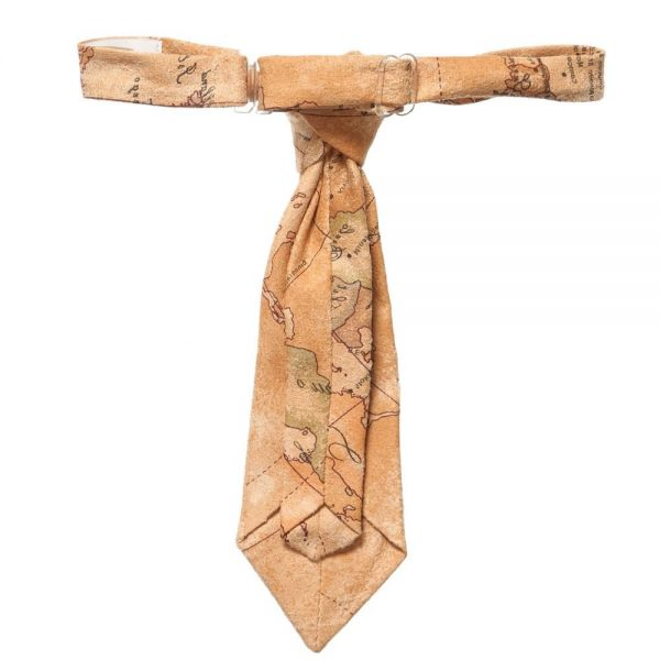 ALVIERO MARTINI Beige Map Print Ready-Tie 1
