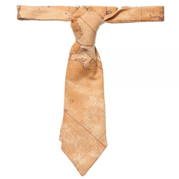 ALVIERO MARTINI Beige Map Print Ready-Tie