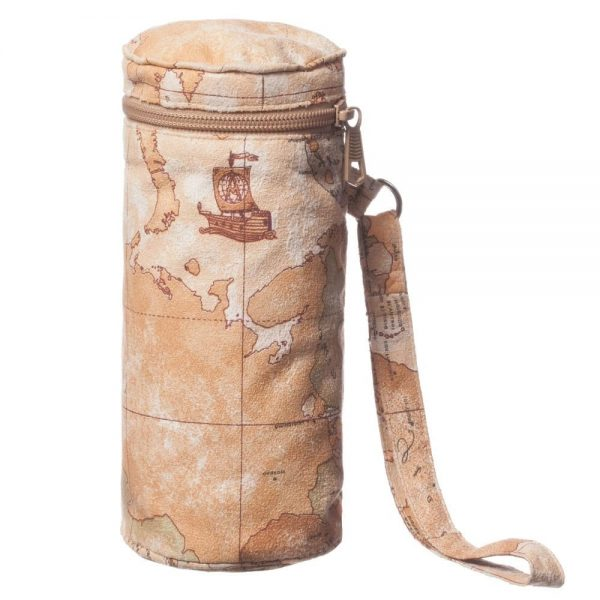 ALVIERO MARTINI Beige Vintage Map Bottle Holder (20cm)