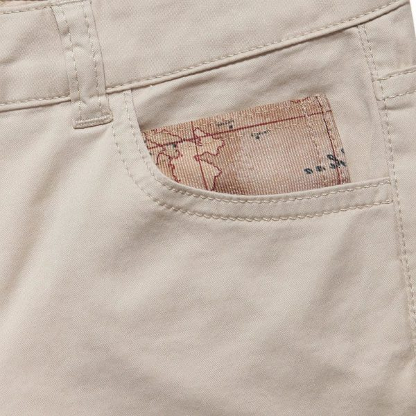 ALVIERO MARTINI Boys Beige Cotton Chino Trousers 2