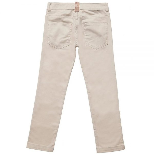 ALVIERO MARTINI Boys Beige Cotton Chino Trousers 4
