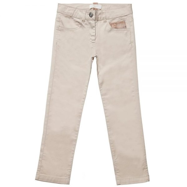 ALVIERO MARTINI Boys Beige Cotton Chino Trousers