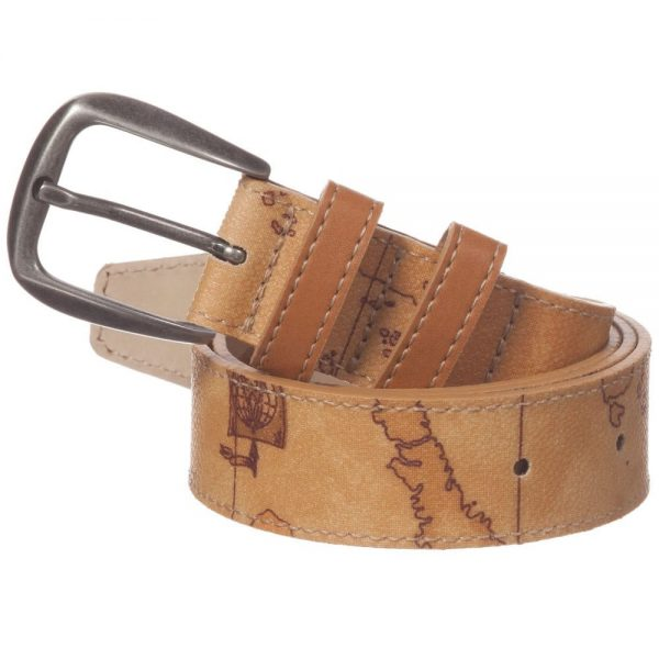 ALVIERO MARTINI Boys Beige Map Print Belt 2