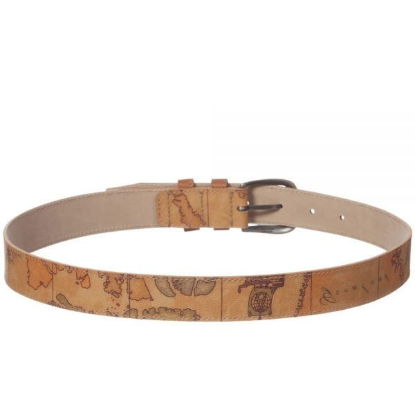 ALVIERO MARTINI Boys Beige Map Print Belt 3