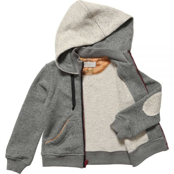 ALVIERO MARTINI Boys Grey Cotton Zip-Up Top 1