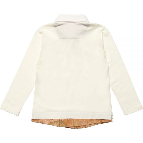 ALVIERO MARTINI Cotton Layered Look Top 1