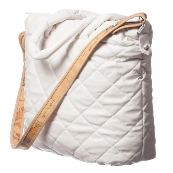 ALVIERO MARTINI Ivory Quilted Baby Bag (45cm) 1