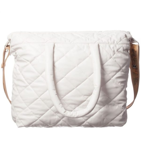 ALVIERO MARTINI Ivory Quilted Baby Bag (45cm) 2