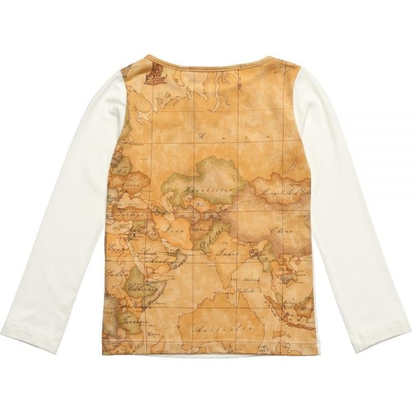 ALVIERO MARTINI Top with Vintage Map Back2