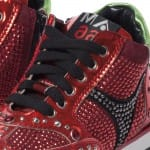 AM66 Girls Red Metallic Leather Trainers 2