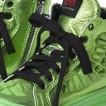 AM66 Green Metallic Leather High-Top Trainers 2