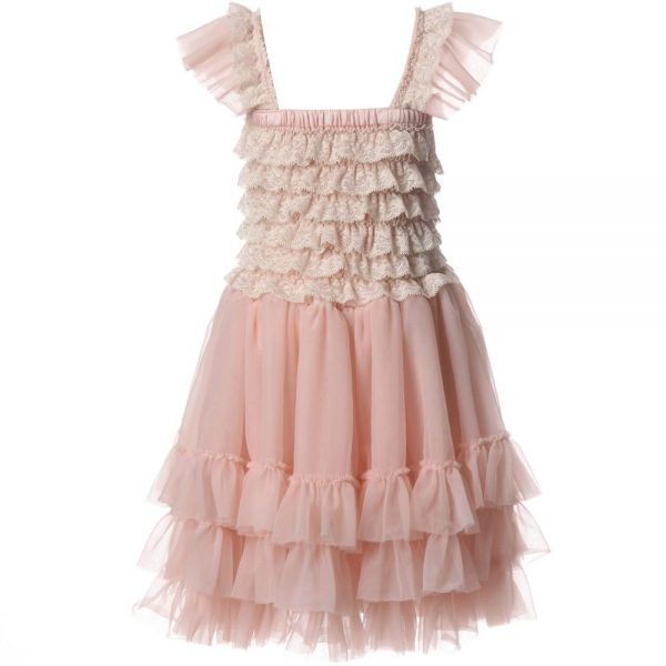 ANGEL'S FACE Blush Pink Ballroom Lace Tulle Dress 2