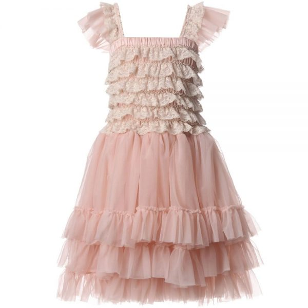 ANGEL'S FACE Blush Pink Ballroom Lace Tulle Dress