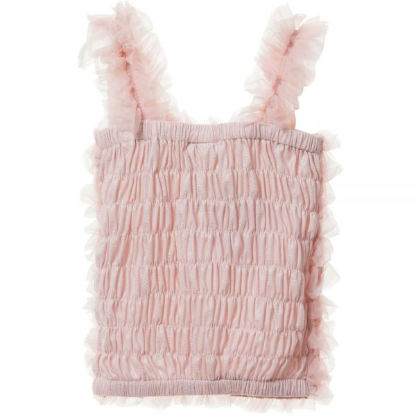 ANGEL'S FACE Blush Pink Tulle Net Frilled Top 1