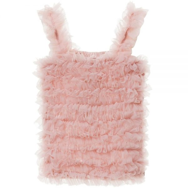ANGEL'S FACE Blush Pink Tulle Net Frilled Top