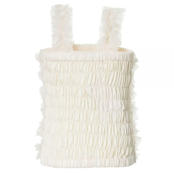 ANGEL'S FACE Ivory Tulle Net Frilled Top 1