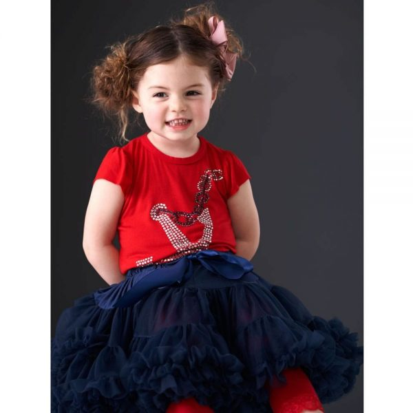 ANGEL'S FACE Navy Blue Chiffon Frilled Tutu Skirt 2