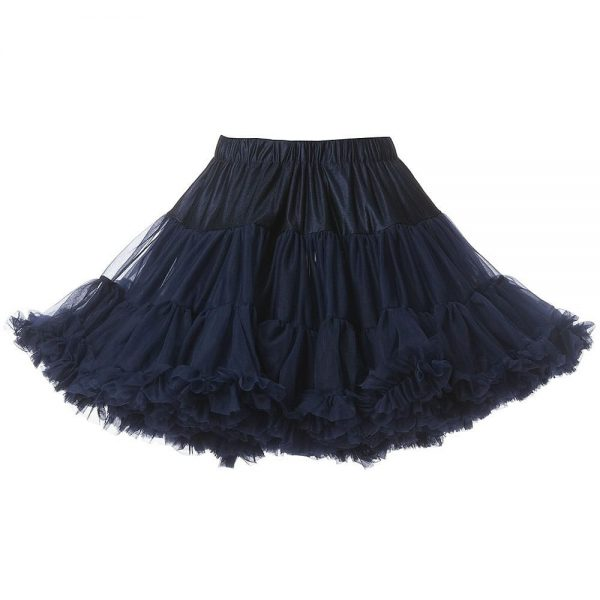 ANGEL'S FACE Navy Blue Chiffon Frilled Tutu Skirt 4