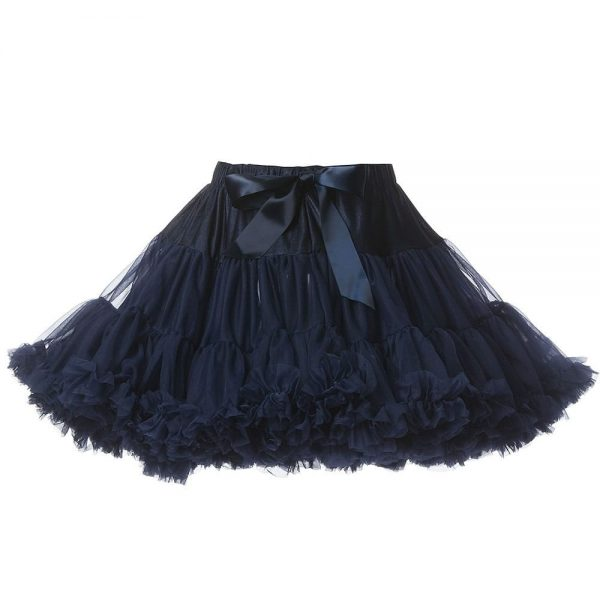 ANGEL'S FACE Navy Blue Chiffon Frilled Tutu Skirt