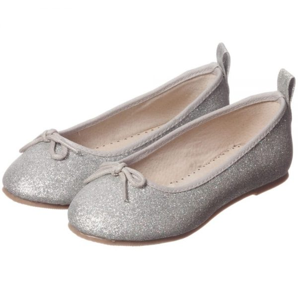 ANGEL'S FACE Silver Glitter Ballet Pumps 1