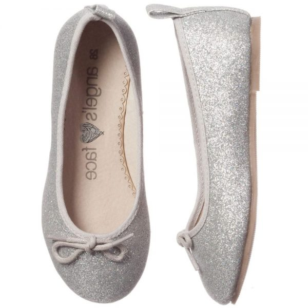 ANGEL'S FACE Silver Glitter Ballet Pumps 3