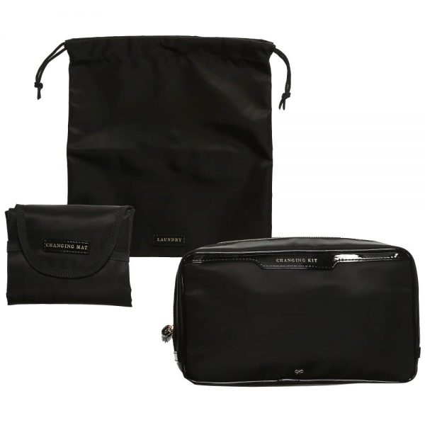 ANYA HINDMARCH Black 'Oakley' Baby Bag (31cm) 3