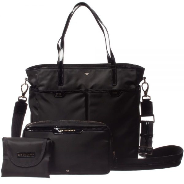 ANYA HINDMARCH Black 'Oakley' Baby Bag (31cm)