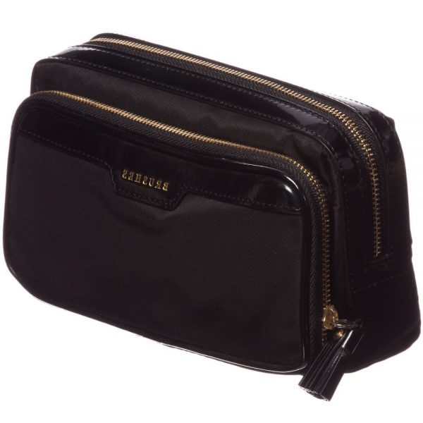 ANYA HINDMARCH Black Small 'Make-Up' Bag (19cm) 1
