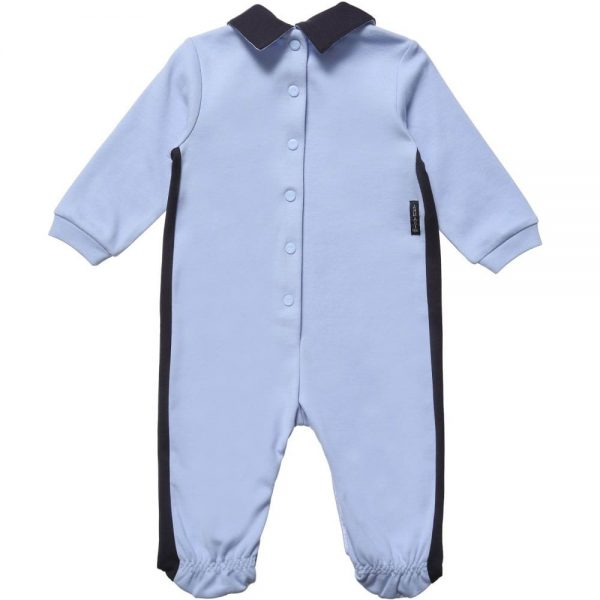 ARMANI BABY Baby Boys Blue Cotton Babygrow 2