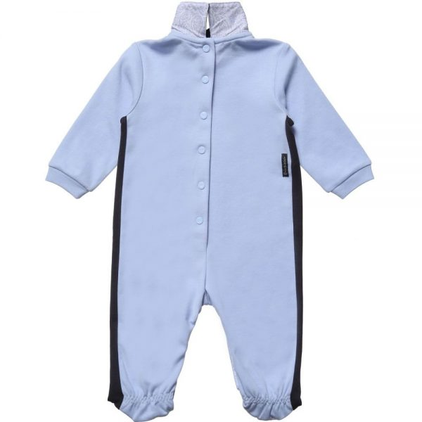 ARMANI BABY Baby Boys Blue Cotton Babygrow 3