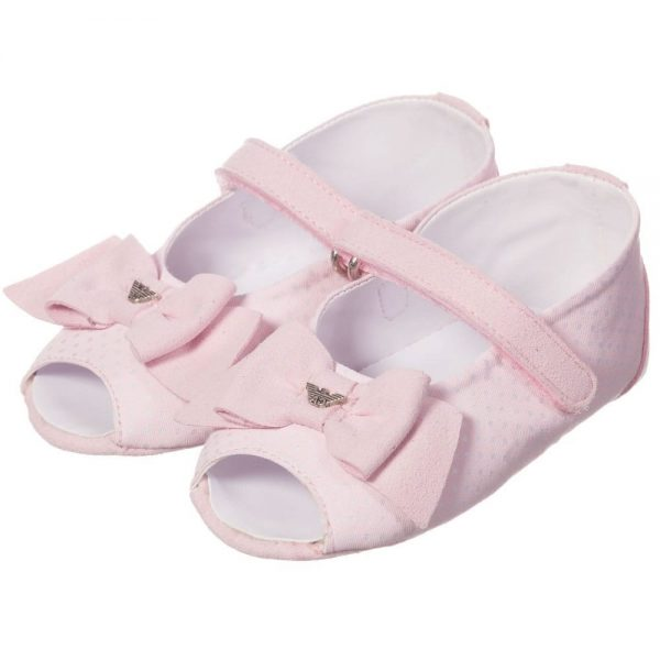 ARMANI BABY Baby Girls Pink Pre-Walker Sandals 1