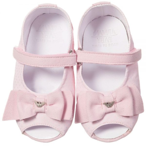 ARMANI BABY Baby Girls Pink Pre-Walker Sandals 5