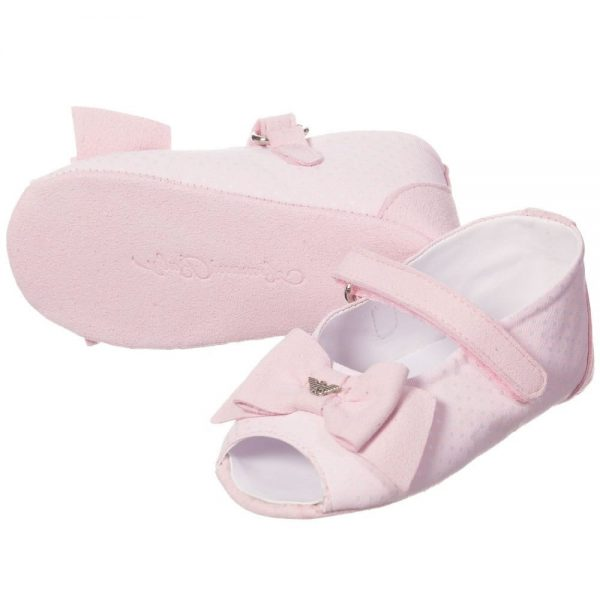 ARMANI BABY Baby Girls Pink Pre-Walker Sandals