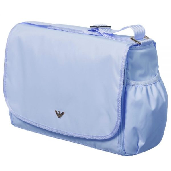 ARMANI BABY Pale Blue Baby Changing Bag (35cm) 1