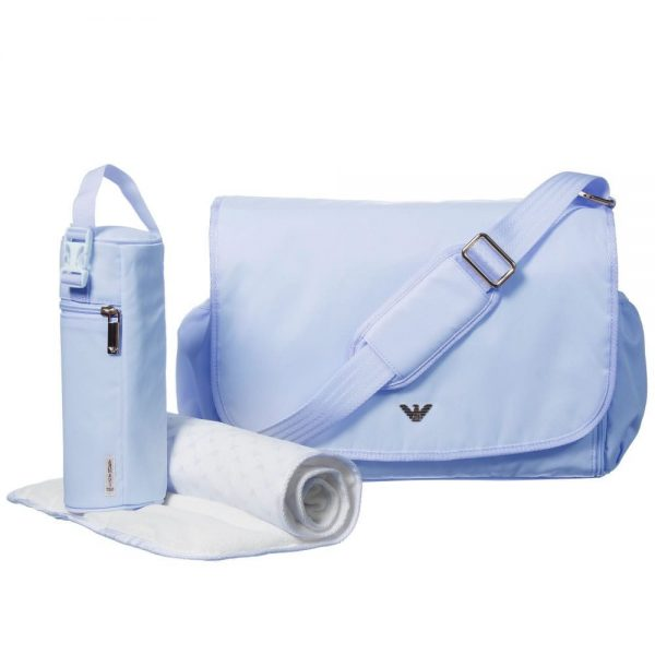ARMANI BABY Pale Blue Baby Changing Bag (35cm)