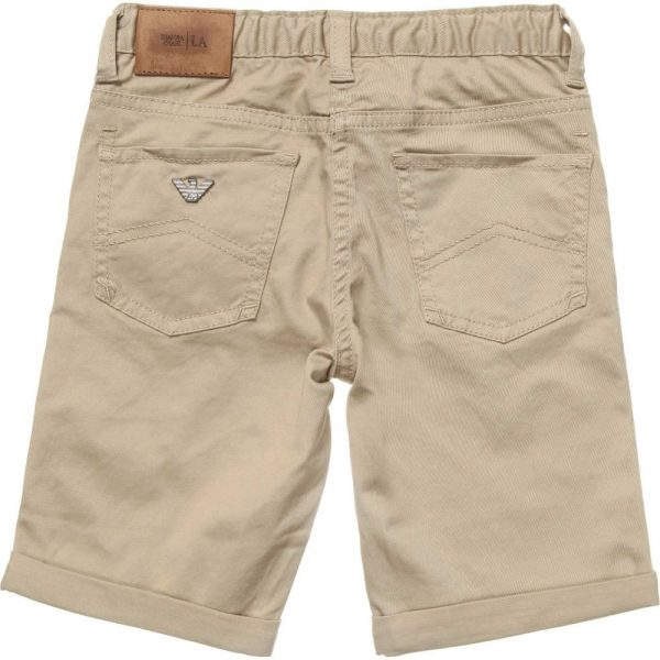 ARMANI JUNIOR Boys Beige Cotton Shorts 1