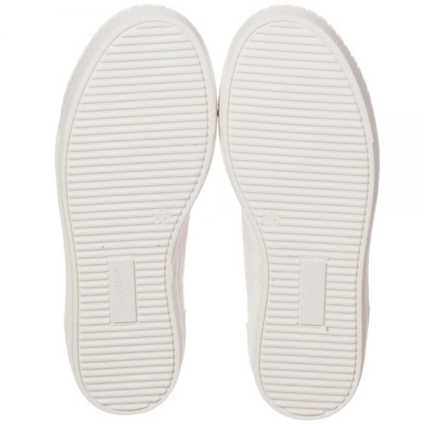 ARMANI TEEN Girls White Canvas Trainers 3