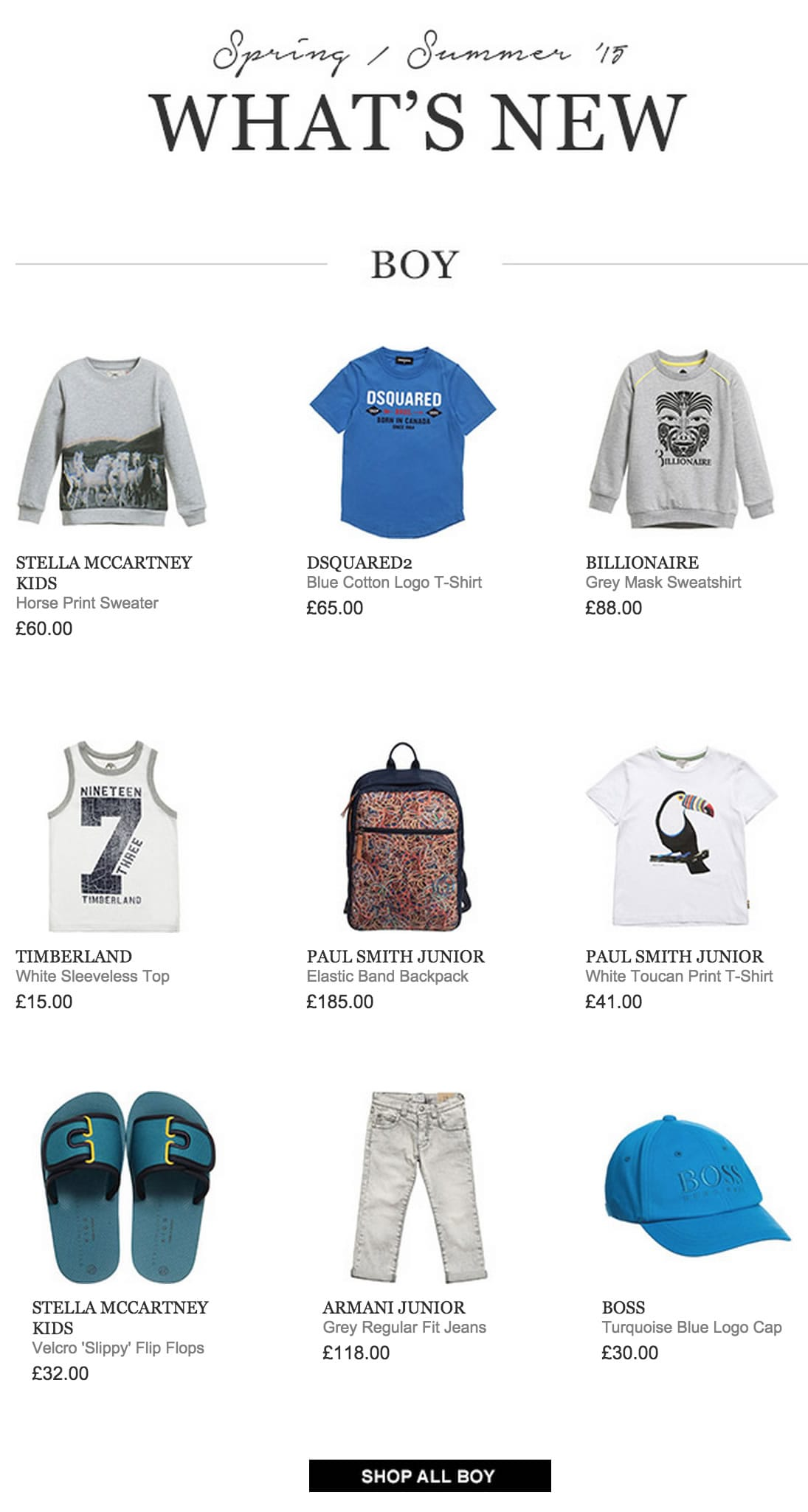 Boys Designers Clothing New Arrivals