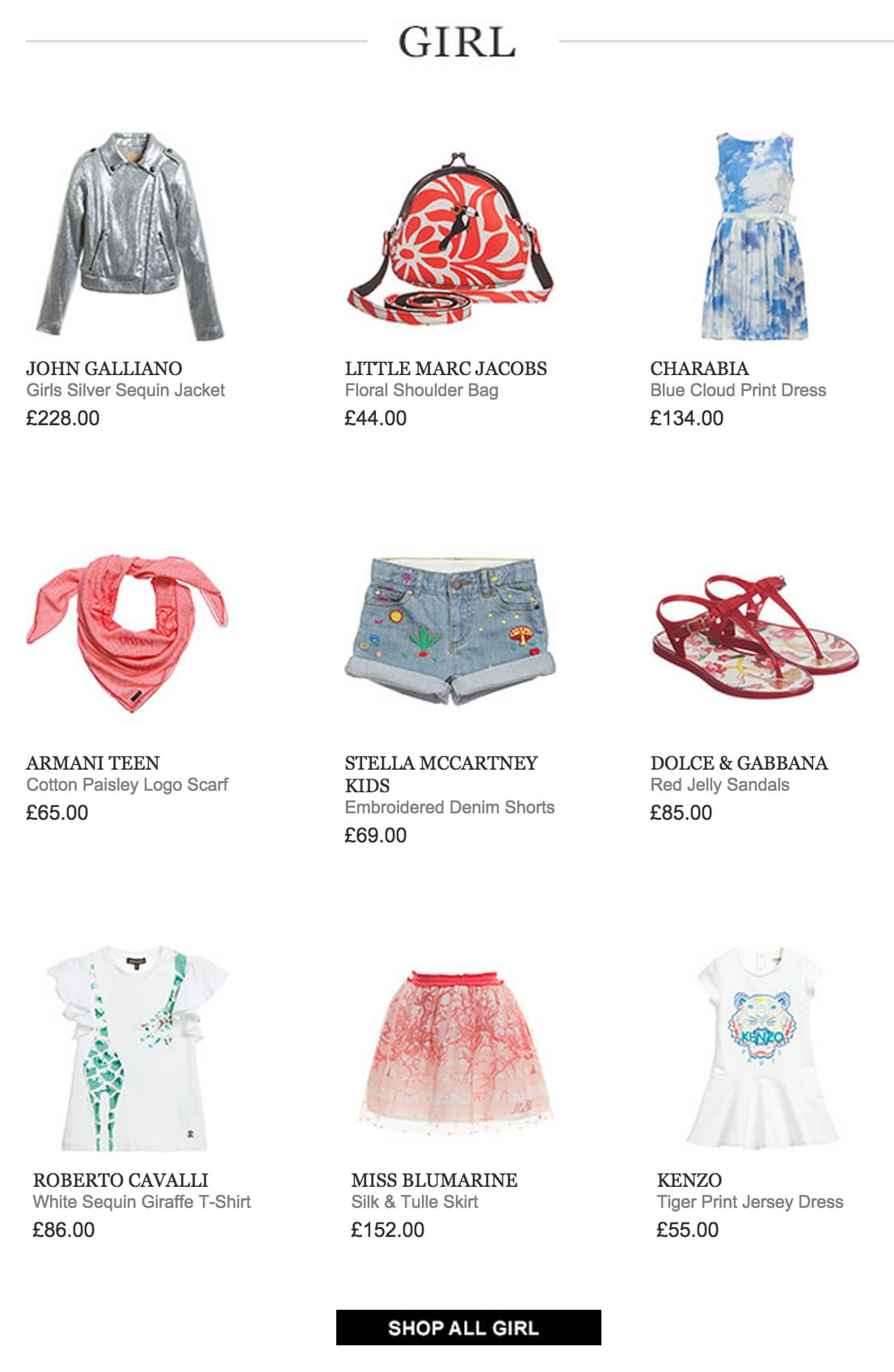 Girls Designers Clothes New Collection Spring : Summer 15