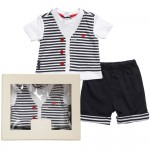 ARMANI BABY Baby Boys Blue T-Shirt & Shorts Gift Set 1