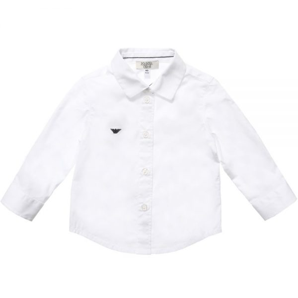 ARMANI BABY Baby Boys Classic White Cotton Shirt